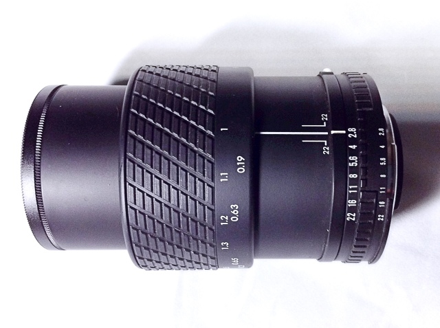 My Sigma 50mm f/2.8 Macro lens fully extended
